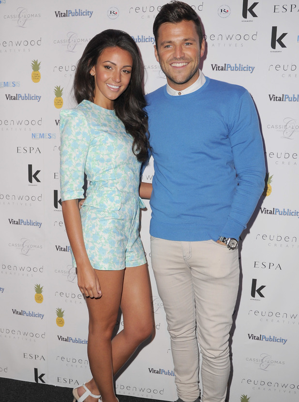 Mark Wright and Michelle Keegan arrive a Ruben Wood Creative Salon Launch Party 18/03/14