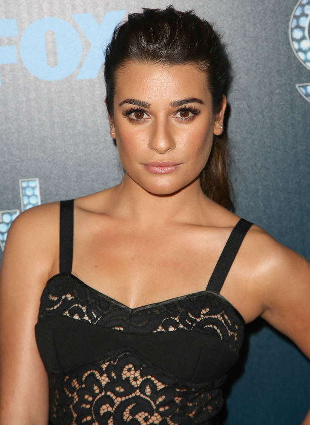 Lea Michele steps out at the Glee 100th Episode Celebration in Los Angeles, America - 18 March 2014