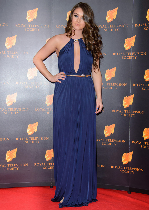 Brooke Vincent at RTS Programme Awards 2014 held at Grosvenor House Hotel - 19 March 2014