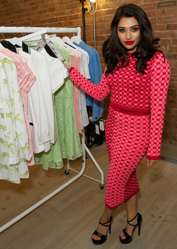 Vanessa White steps out at the launch of the Very.co.uk spring/summer '14 collection in Soho, London - 19 March 2014