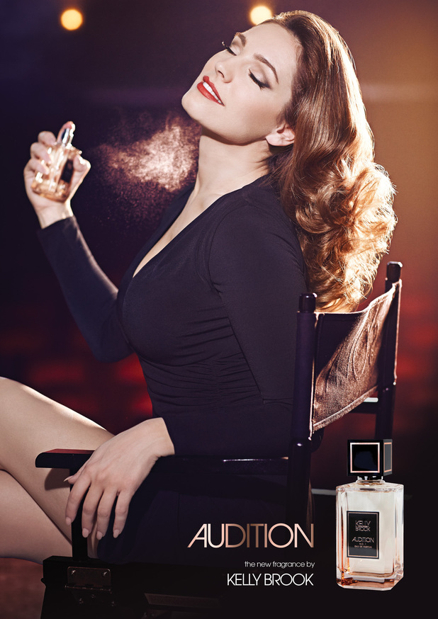 Kelly Brook's campaign image for her new perfume Audition - 17 March 2014