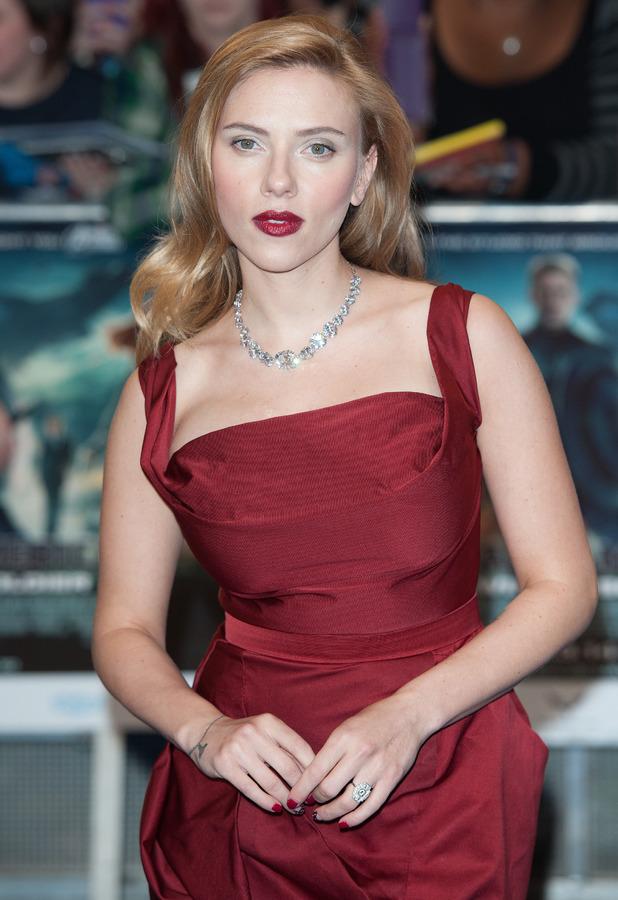 Scarlett Johansson attends the UK premiere of Captain America: The Winter Soldier in London's Westfield, 20 March 2014