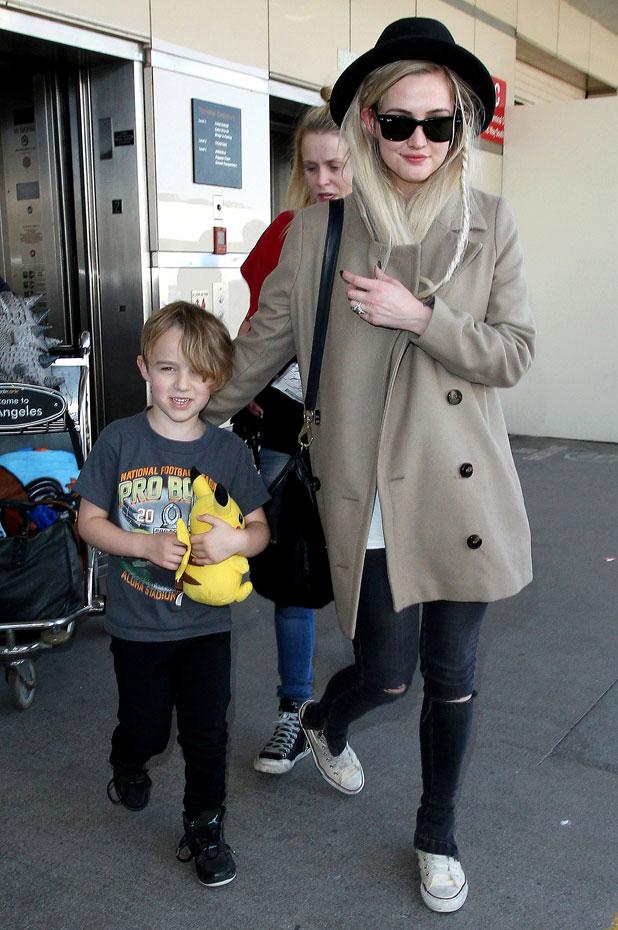 Ashlee Simpson arriving at LAX International Airport, Los Angeles, America - 16 Mar 2014