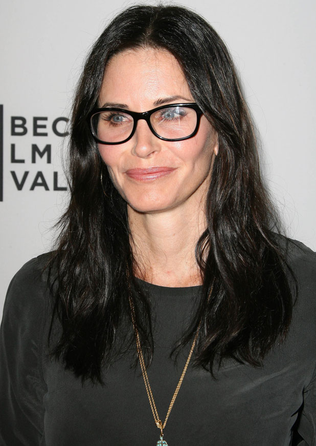 Courteney Cox, Johnny McDaid at the Tribeca Film Festival 2014 celebration at The Beverly Hilton Hotel, 17 March 2014