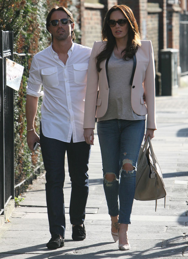 Tamara Ecclestone and Jay Rutland seen walking in Knightsbridge, London, 15 March 2014
