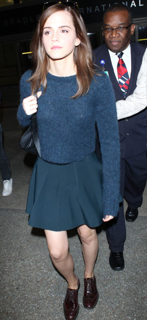 Emma Watson arrives at Los Angeles International Airport (LAX), 18 March 2014