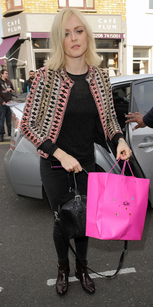Fearne Cotton arriving at Celebrity Juice taping at Riverside Studios, London, 19 March 2014