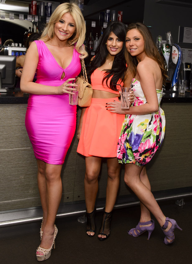 Georgia Koupoulou, Jasmin Walia and Fran Parman in TOWIE photo call on 17 March 2014