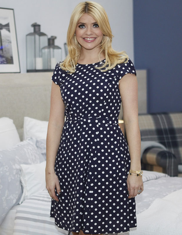 Holly Willoughby promotes her BHS bedding collection, Ideal Home show 2014, London, Britain - 17 Mar 2014