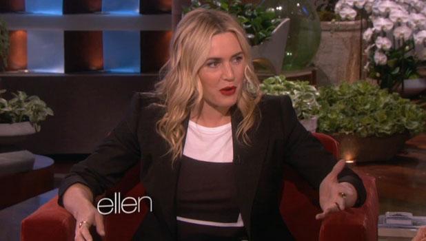 Kate Winslet appearing on The Ellen DeGeneres Show, 18 March 2014
