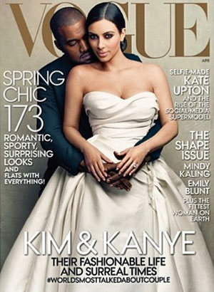 Kim Kardashian and Kanye West cover US Vogue, April 2014