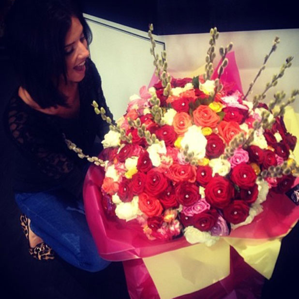 Lucy Mecklenburgh given 151 roses by a mystery admirer, 19 March 2014