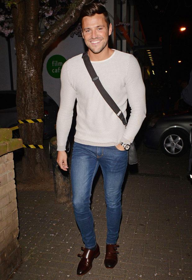 Mark Wright leaving 'Celebrity Juice' TV show recording, Riverside Studios, London, Britain - 19 Mar 2014