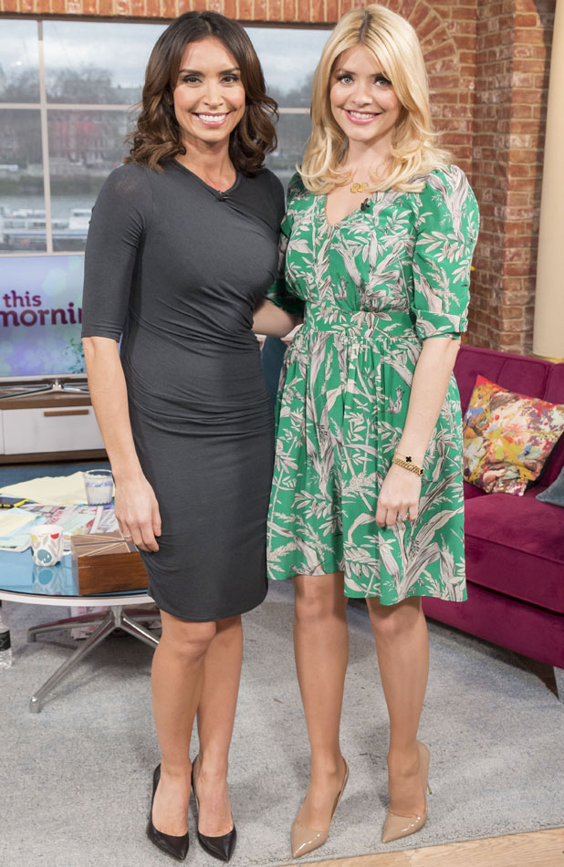 Holly Willoughby and guest co-host Christine Bleakley, 'This Morning' TV Programme, London, Britain - 17 Mar 2014