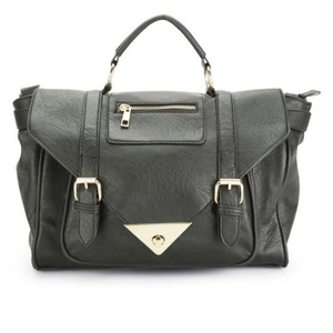 Reveal Shop: Thomas Calvi women's black satchel handbag