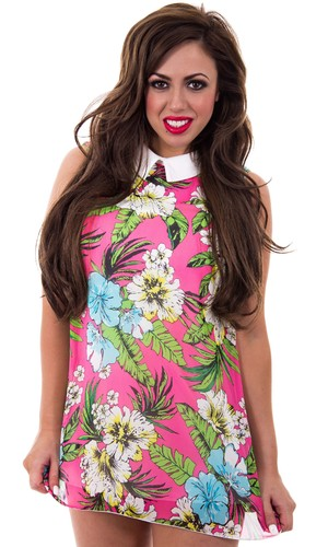 Holly Hagan in Floral Peter Pan blouse from her Spring 2014 collection with The Fashion Bible - 26 March 2014