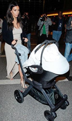 Kim Kardashian and North West - The Kardashians at LAX Los Angeles International Airport, America - 26 Mar 2014