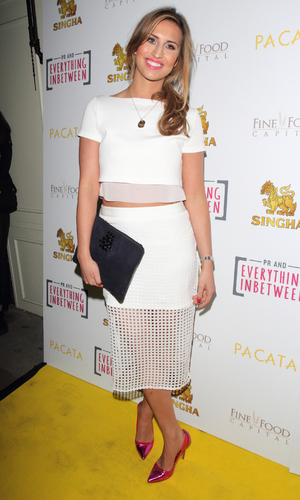 TOWIE's Ferne McCann attends Pacata, Singha's official restaurant launch, 28 March 2014