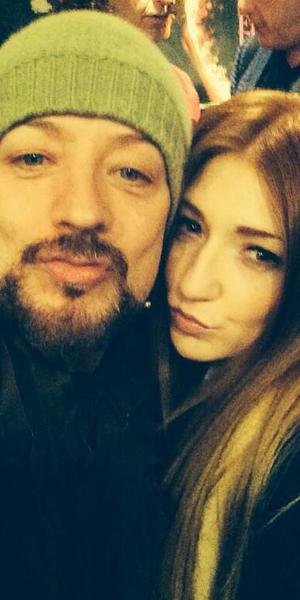Nicola Roberts and Boy George at '20 Feet from Stardom' film screening, London, Britain - 25 Mar 2014