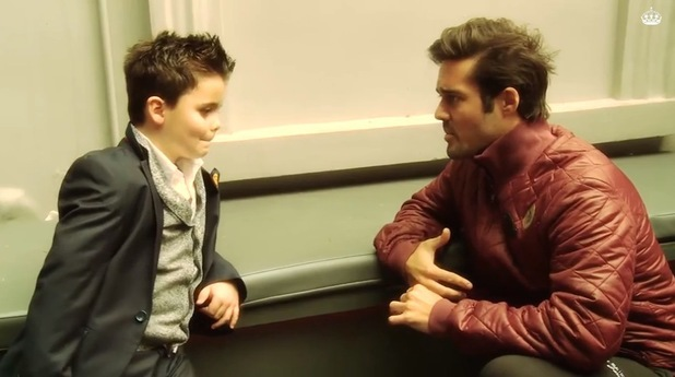 Spencer Matthews teaches his mini me Made In Chelsea actor how to be him - 25 March 2014