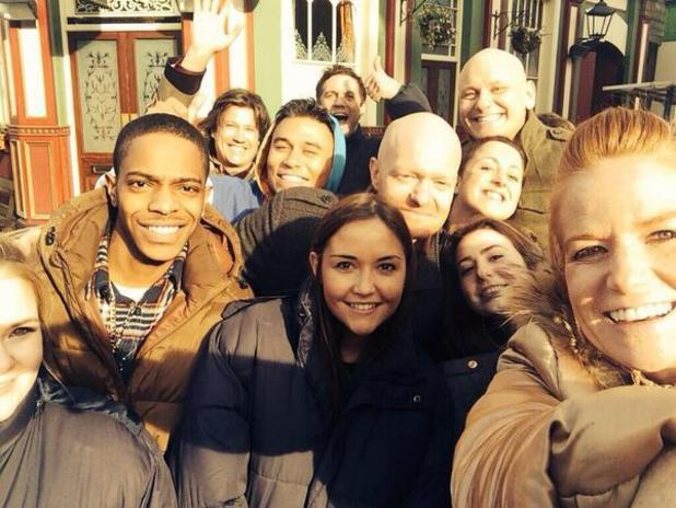 Jake Wood shares a photograph of an EastEnders Oscars-style selfie - 25 March 2014