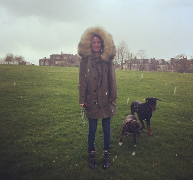 Millie Mackintosh gets stuck in the rain