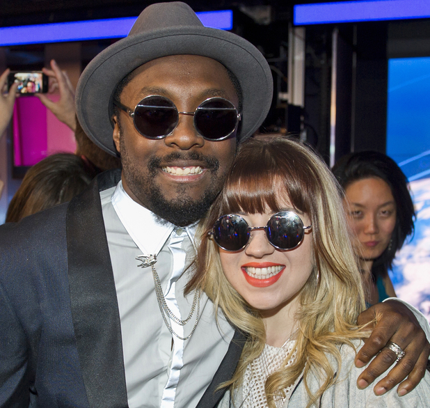 Former The Voice contestant Leah McFall and Will.I.Am 25.03.14