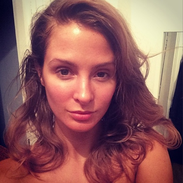 Millie Manderson (nee Mackintosh) poses for a make-up free Instagram selfie - 24 March 2014