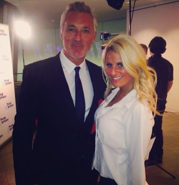TOWIE's Danielle Armstrong rubs shoulders with former EastEnders actor Martin Kemp at the Young Epilepsy Champions Awards (26 March).