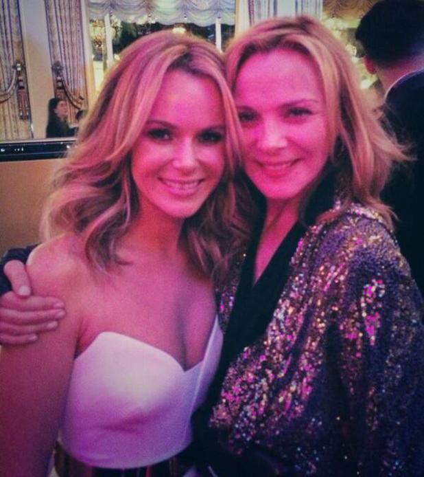 Amanda Holden meets Kim Catrall at charity gala in Monaco - 25 March 2014