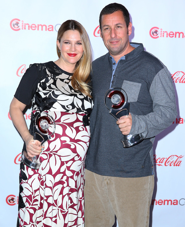Drew Barrymore and Adam Sandler attend Cinema-Con 2014, The Big Screen Achievement Awards at Caesars Palace Resort and Casino in Las Vegas, America - 27 March 2014