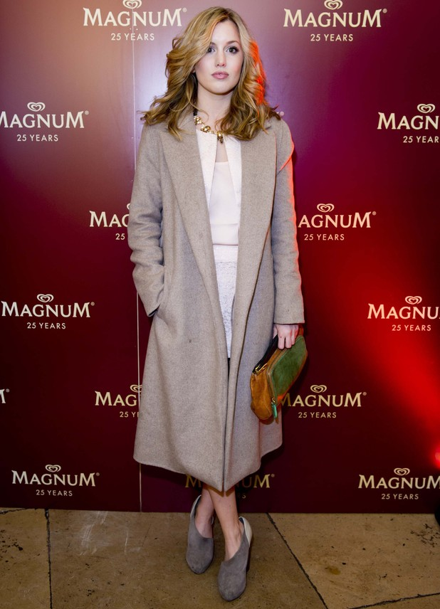 Made in Chelsea's Caggie Dunlop at Magnum party - 26 March 2014