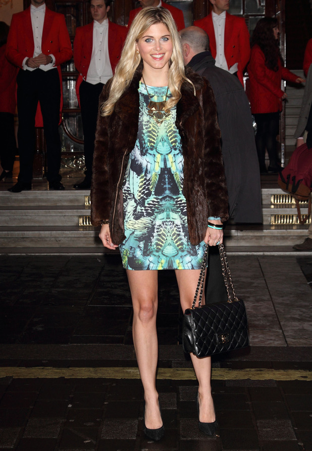 Ashley James steps out at the press premiere of new musical I Can't Sing at the London Palladium - 26 March 2014