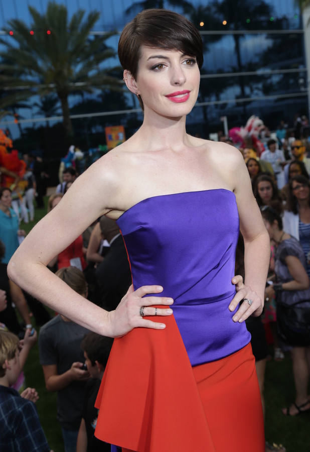 Anne Hathaway attends the premiere of Rio 2 in Miami, Florida - 21 March 2014