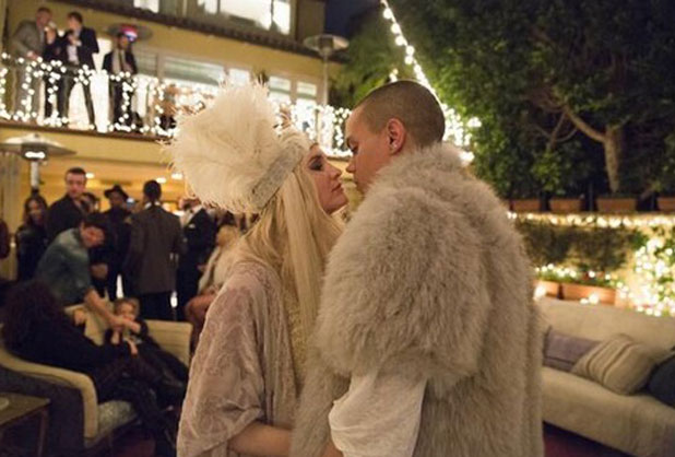 Ashlee Simpson and Evan Ross celebrate their engagement, Los Angeles, March 2014