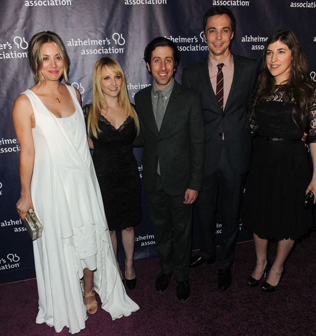 """Big Bang Theory cast at the 22nd Annual """"A Night at Sardi's"""" to benefit the Alzheimer's Association, LA, 26 March 2014"""