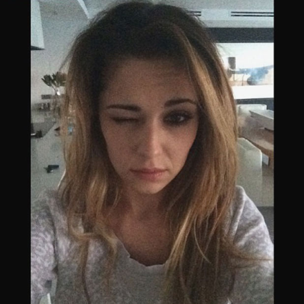 Cheryl Cole's flawless morning-after selfie in South Africa, March 2014