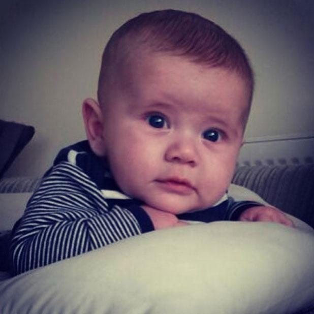 Dan Osborne's baby son Teddy in an Instagram picture, 22 March 2014