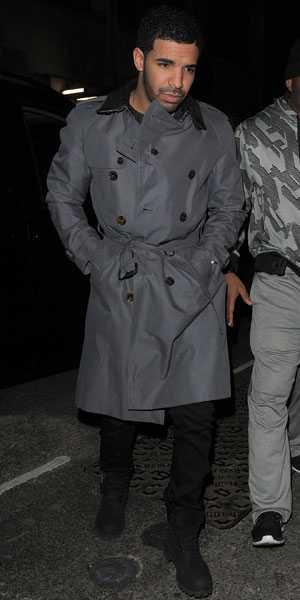 Drake partying at Tramp nightclub in London, 27 March 2014