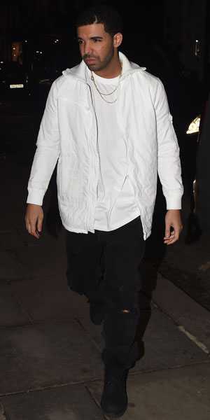 Rihanna and Drake leaving Tramp in London's West End, 25 March 2014