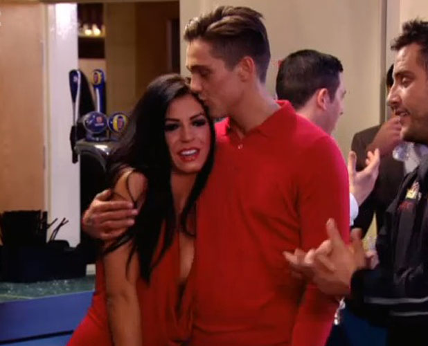 TOWIE eleventh series, tenth episode, aired March 26 2014: Lewis Bloor and Olivia Amoroso