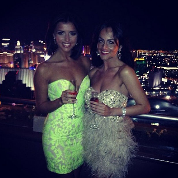 Lucy Mecklenburgh celebrates a friend's hen do in Las Vegas, 26 March 2014