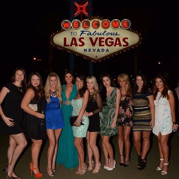 Lucy Mecklenburgh celebrates a friend's hen do in Las Vegas, 27 March 2014