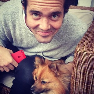 Made In Chelsea's Spencer Matthews dines out with co-star Cheska Hull and her dog Evie (2 April).