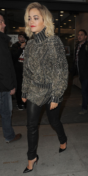Rita Ora arrives at the Radio 1 studios in London, England - 31 March 2014