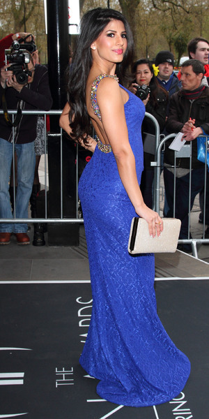 Jasmin Walia attends The Asian Awards 2014 held at Grosvenor House Hotel - 4 April 2014