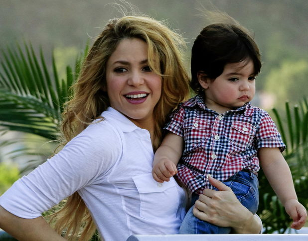 Shakira with her son Milan Piqué - Pies Descalzos Foundation inaugurates new school in Cartagena, Colombia - 25 Feb 2014
