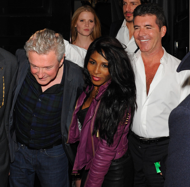 Simon Cowell and friends leaving The Arts Club, London, United Kingdom. 11/03/2014
