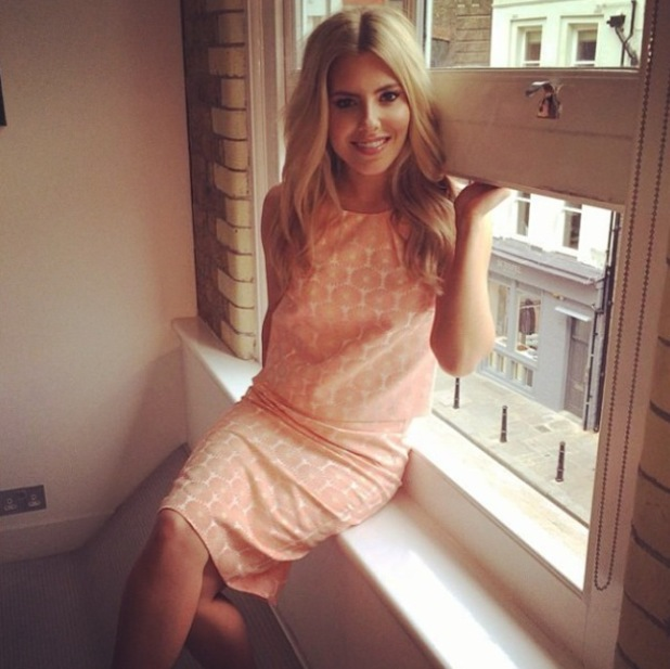 Mollie King models a matching top and skirt from her Oasis spring collection - 2 April 2014