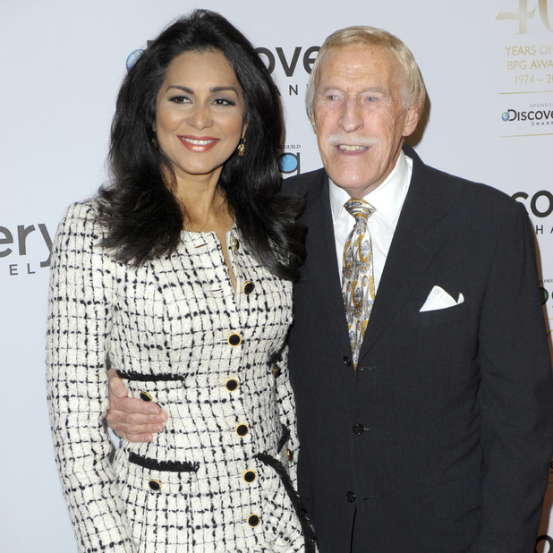 Sir Bruce Forsyth and wife Wilnelia attend the Broadcasting Press Guild Awards held at the Theatre Royal - 28 March 2014